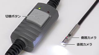 スイッチで切り替える、直視と側視