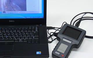 USB出力で、パソコンへのデータ転送